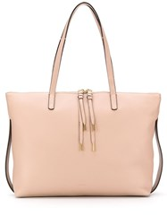 Bally Pebbled Leather Tote Bag Pink