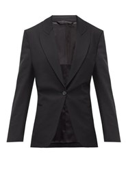 Acne Studios Jereni Cinched Waist Single Breasted Blazer Black