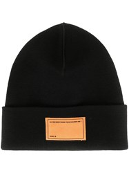 Oamc Front Patch Knitted Beanie Black