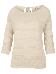 Fat Face Chiddingfold Keyhole Jumper Ivory