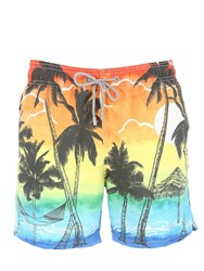 Mc2 Saint Barth Barbados Sunset Micro Fiber Swim Shorts Multicolor