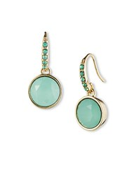 Lonna And Lilly Goldtone Jade Crystal Drop Earrings Green