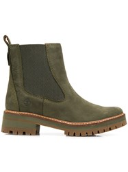 Timberland Ridged Sole Ankle Boots Green