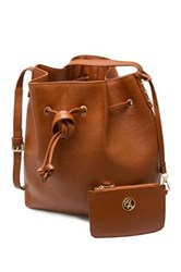 Erica Anenberg Chelsea Leather Bucket Bag Brown