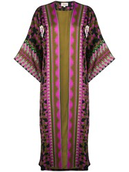 Temperley London Open Front Coat Green