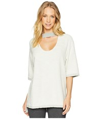 Hard Tail Double Scoop Slouchy Pullover Heather Clothing Gray