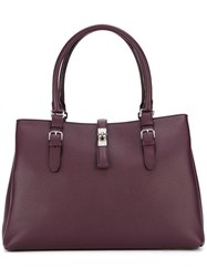 Bally Double Handle Tote Red