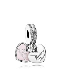 Pandora Design Charm Sterling Silver Cubic Zirconia And Enamel Best Friends Moments Collection