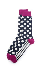 Ted Baker Edge Polka Dot Socks Navy