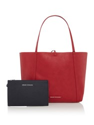 Armani Exchange Core Shopper Red