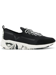 Diesel S Kby Sneakers Leather Suede Polyester Rubber Black