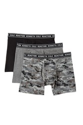 Kenneth Cole Reaction Boxer Briefs Pack Of 3 Mdgyht Gycam Bk