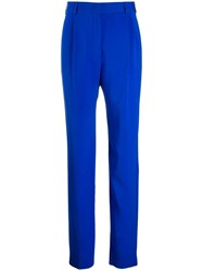 Emilio Pucci Straight Tailored Trousers Blue