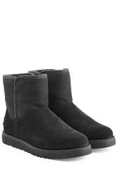 Ugg Australia Shearling Lined Ankle Boots Black