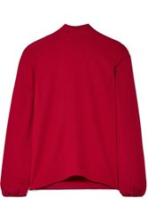 Theory Silk Crepe Top Claret