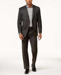 Marc New York By Andrew Men's Classic Fit Solid Charcoal Suit