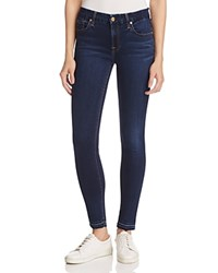 7 For All Mankind B Air The Ankle Skinny Jeans In Dark Wash B Air Tranquil B Ue