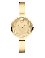 Movado Edge Ionic Goldplated Bangle Bracelet Watch