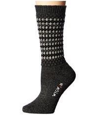Wigwam Jacy Black Women's Crew Cut Socks Shoes