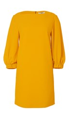 Tibi Structured Crepe Boatneck Dress