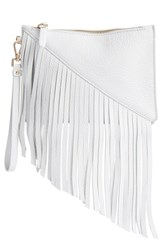 Etienne Aigner 'Small Fringe Moda' Wristlet White Optic White