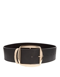 Asos Wide Tipped Waist Belt Black