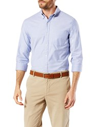 Dockers Stretch Long Sleeve Oxford Shirt Delft