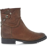 Bertie Pardew Warm Lined Leather Ankle Boots Tan Leather