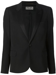 Saint Laurent 'Iconic' Smoking Jacket Black