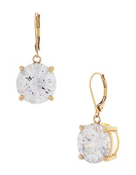 Betsey Johnson Goldtone And Crystal Drop Earrings