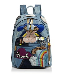 Marc Jacobs Julie Verhoeven Patched Denim Backpack Denim Gold