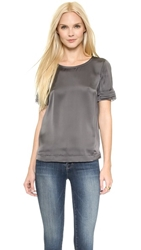 J Brand Ready To Wear Juju Blouse Ash