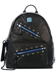 Mcm Big Zip Backpack Black