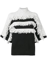 Manoush Fringe Top Black