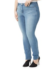 Junarose Push Up Slim Washed Skinny Jeans Blue Light Blue