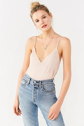 Urban Outfitters Uo Dark Rising Tank Top Beige