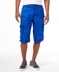 Sean John Men's Multi Pocket Flight Shorts Surf The Web