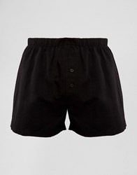 Asos Woven Boxers In Black Black