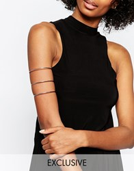 Designsix Triple Bar Arm Cuff Silver