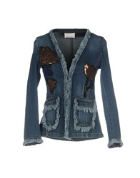 Cristinaeffe Denim Outerwear Blue