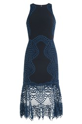 Jonathan Simkhai Cocktail Dress With Lace Crochet Overlay Gr. Us 4