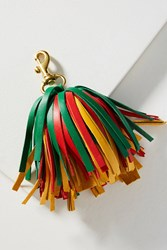 Clare V. Leather Pom Keychain Holly