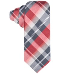 Alfani Men's Hudson Plaid Tie Only At Macy's Red
