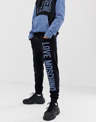 Love Moschino Branded Joggers Black