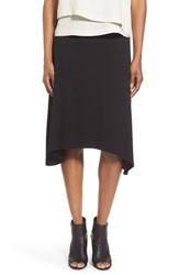 Women's Eileen Fisher 'Flair' Asymmetrical Knee Length Jersey Skirt