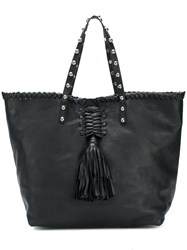Red Valentino Studded Tassel Tote Black