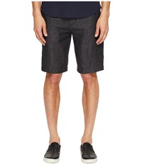 Vince Relaxed Linen Shorts Charcoal Men's Shorts Gray