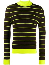 Acne Studios Striped Knitted Jumper Brown