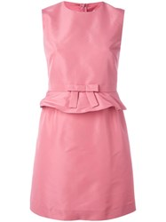 Red Valentino Ruffled Waistband Dress Pink Purple