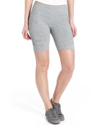 Calvin Klein Performance Shorts Skinny Ruched Bike Shorts Sweats Heather